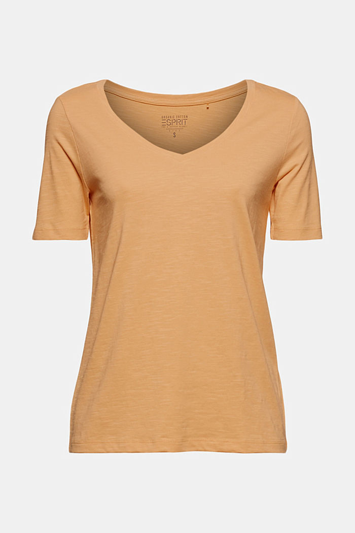 V-neck T-shirt made of organic cotton/TENCEL™
