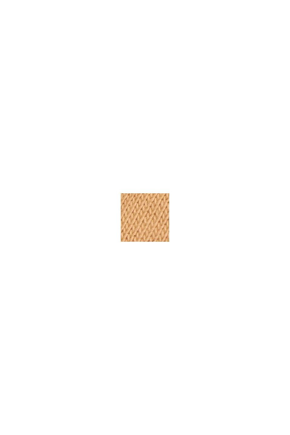 Tričko se špičatým výstřihem, z bio bavlny/TENCEL™, PEACH, swatch