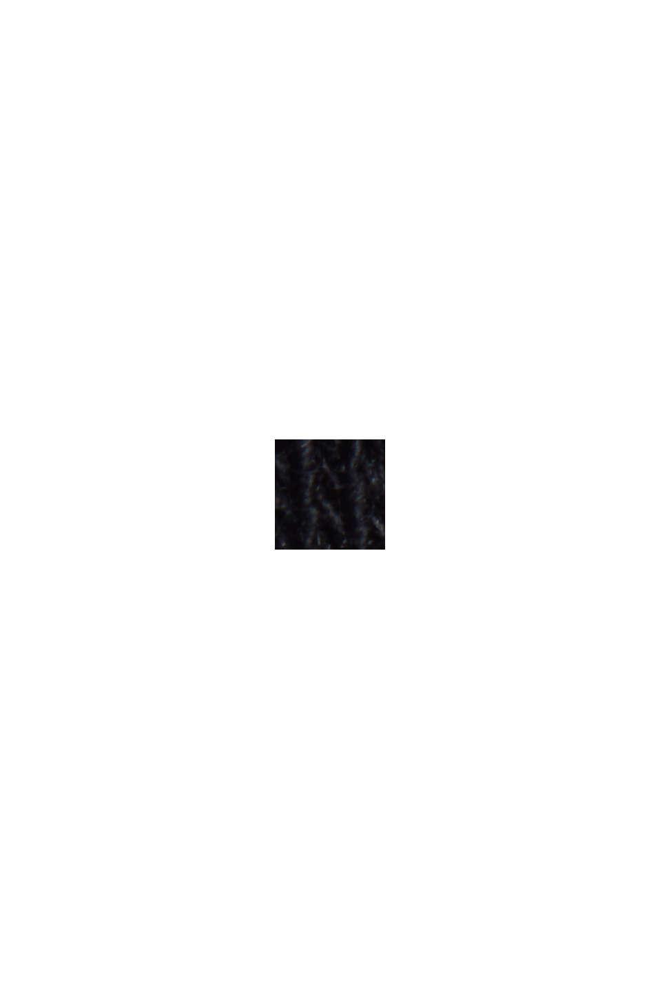 Long sleeve top made of a cotton/linen blend, BLACK, swatch