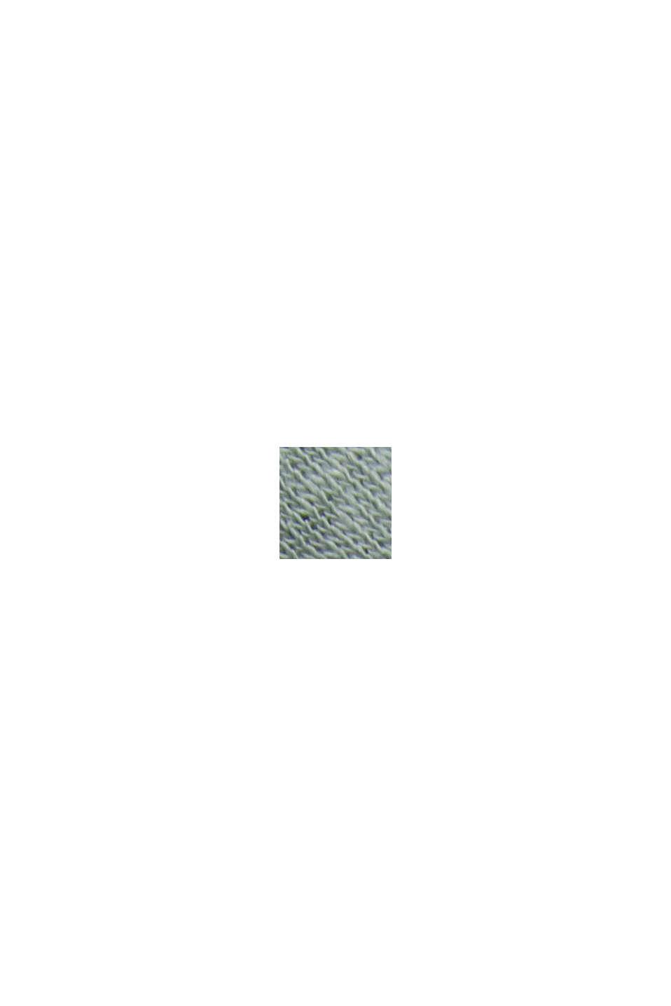 Maglia a manica lunga in misto cotone e lino, TURQUOISE, swatch