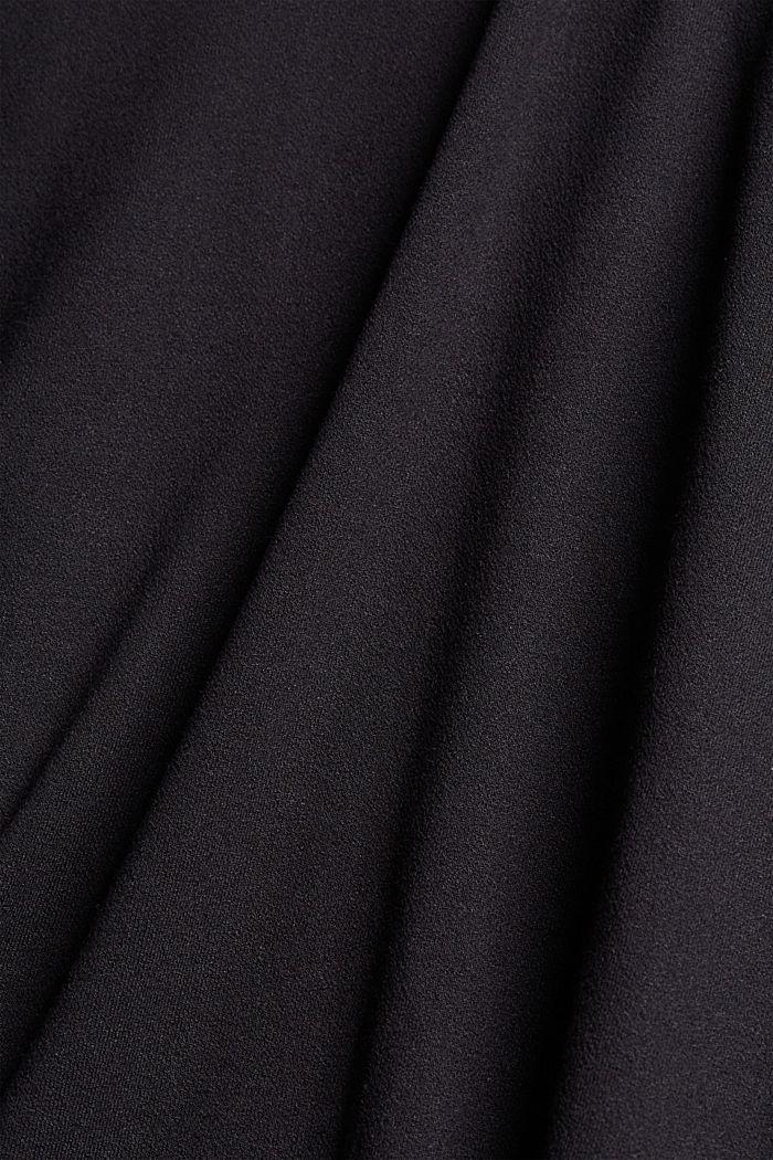 T-shirt met rimpeling, BLACK, detail image number 4