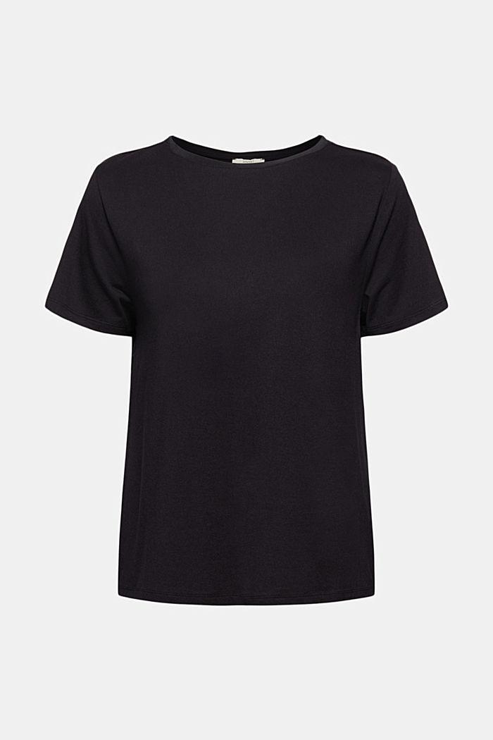 T-shirt met rimpeling, BLACK, detail image number 5