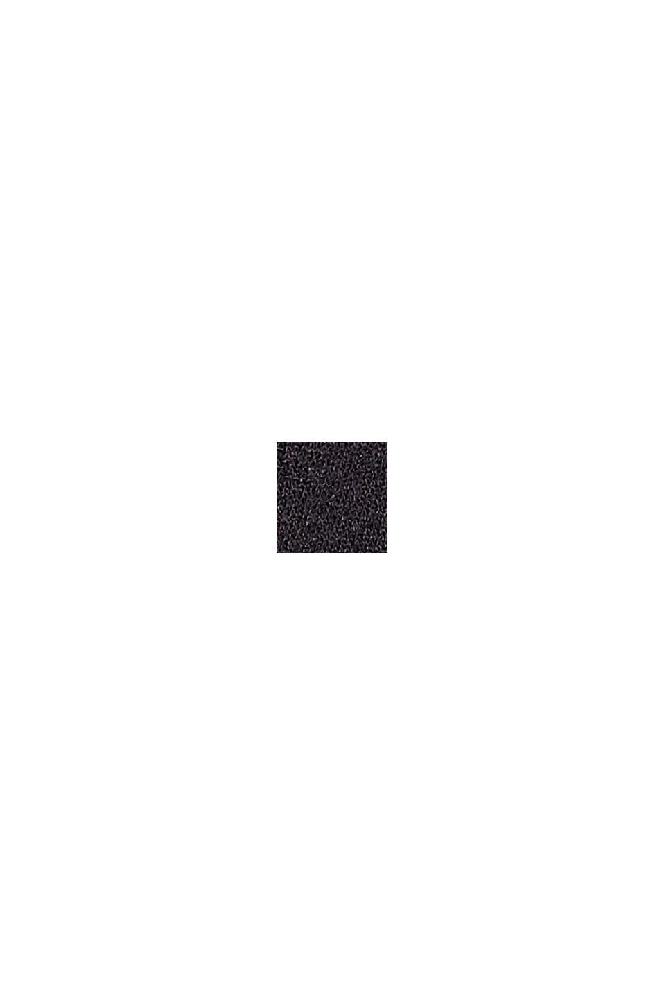 Kombiniertes T-Shirt mit Raffung, BLACK, swatch