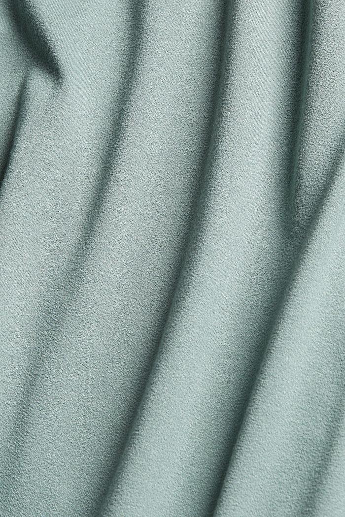 Kombineret T-shirt med rynkning, TURQUOISE, detail image number 4