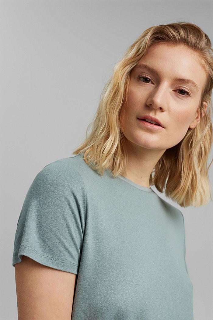 Kombineret T-shirt med rynkning, TURQUOISE, detail image number 5