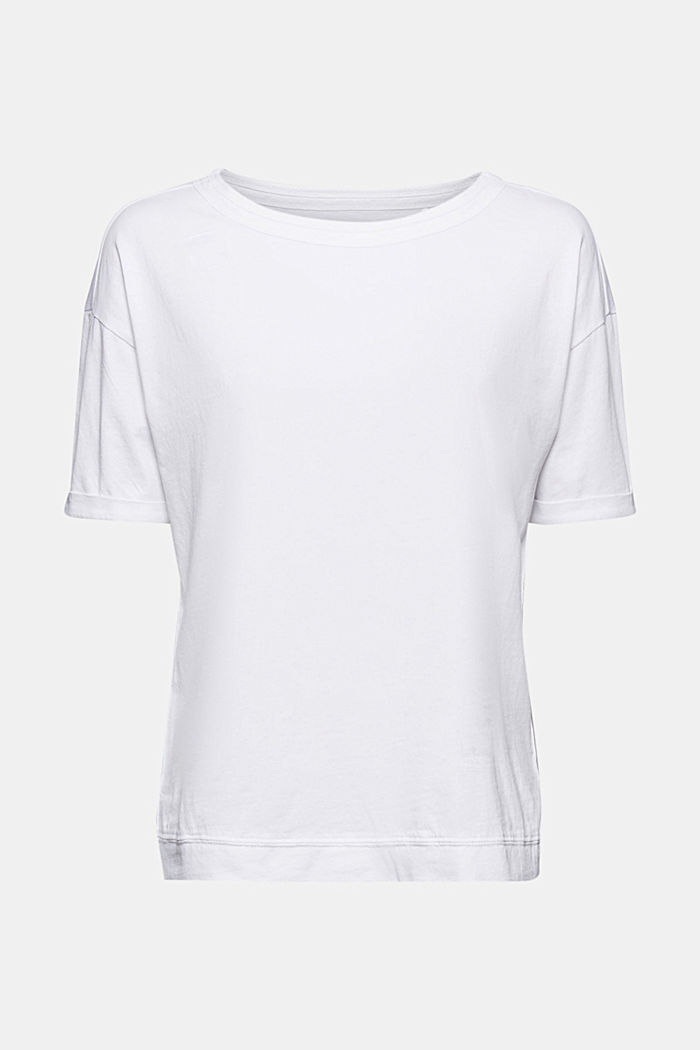 T-Shirt im Washed-Look, Organic Cotton, WHITE, overview