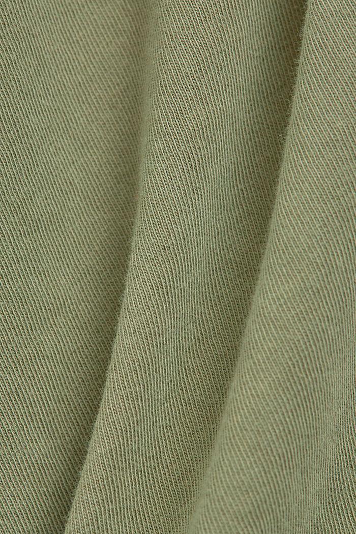 Washed-effect T-shirt, organic cotton, LIGHT KHAKI, detail image number 4