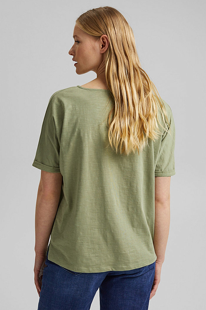 T-Shirt mit Organic Cotton, LIGHT KHAKI, detail image number 3