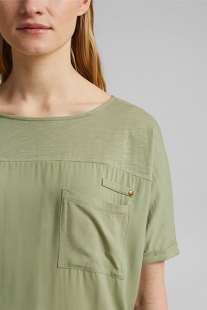 T-Shirt mit Organic Cotton, LIGHT KHAKI, detail image number 2