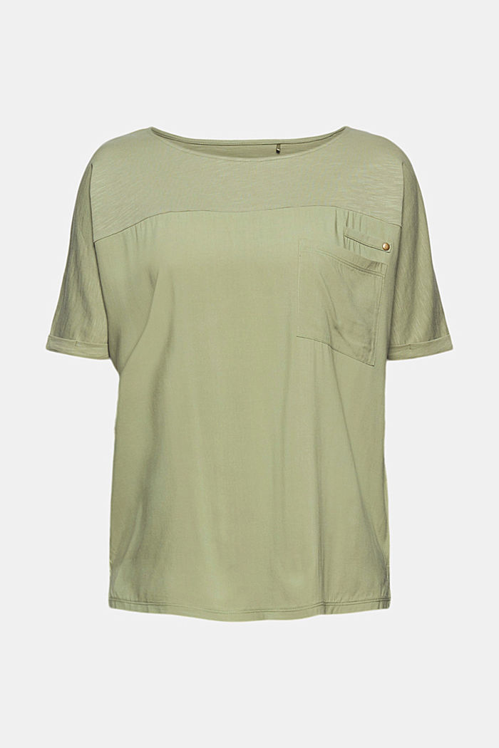 T-Shirt mit Organic Cotton, LIGHT KHAKI, detail image number 6