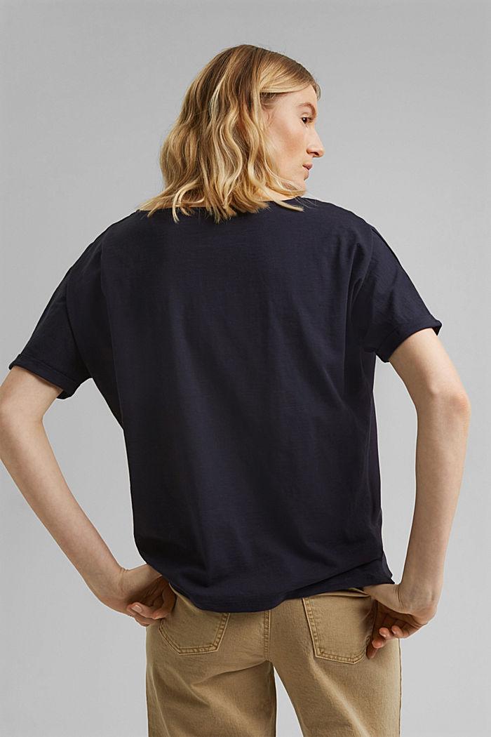 T-Shirt mit Organic Cotton, NAVY, detail image number 3