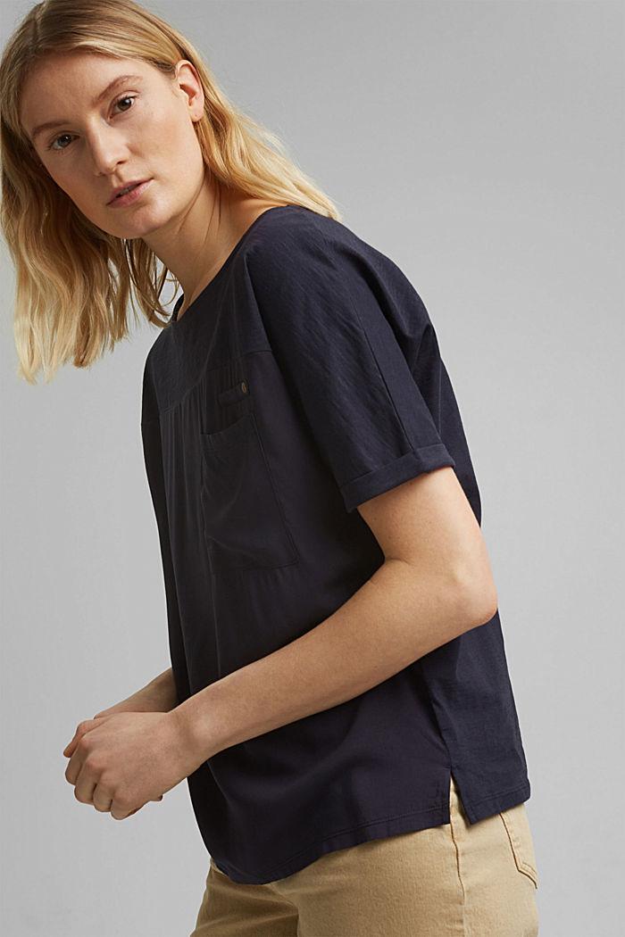 T-Shirt mit Organic Cotton, NAVY, detail image number 5