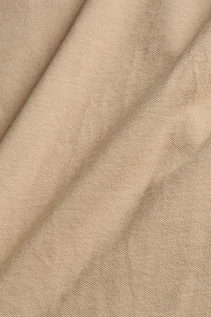 Biologisch katoen/linnen: top met schouderdetails, SAND, detail image number 4