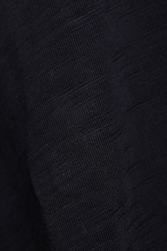 V-Neck-Shirt aus 100% Organic Cotton, BLACK, detail image number 4