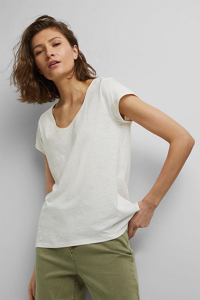 T-Shirt aus 100% Organic Cotton, OFF WHITE, detail image number 5