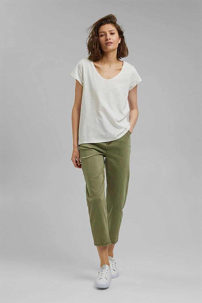 T-Shirt aus 100% Organic Cotton, OFF WHITE, detail image number 1