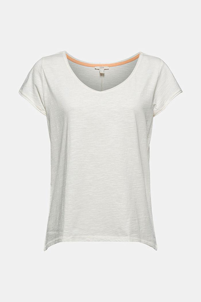T-Shirt aus 100% Organic Cotton, OFF WHITE, detail image number 6