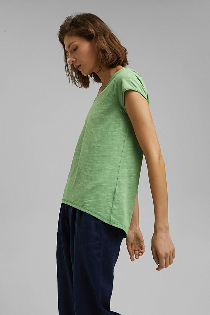 T-shirt made of 100% organic cotton, LEAF GREEN, detail image number 5