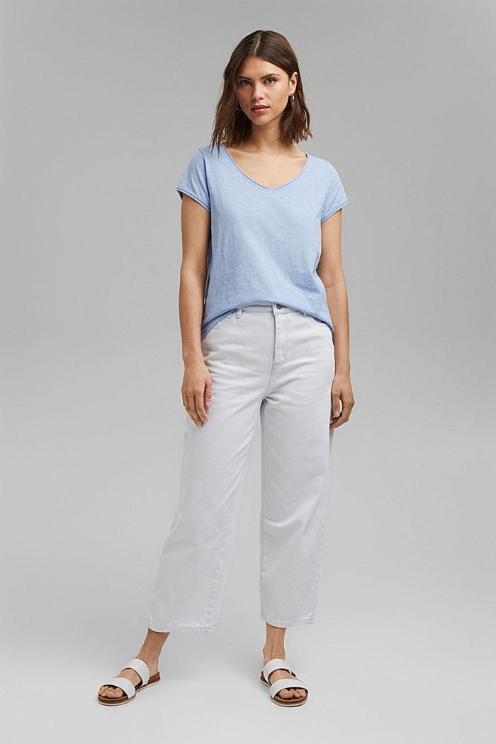 T-Shirt aus 100% Organic Cotton, LIGHT BLUE, detail image number 1