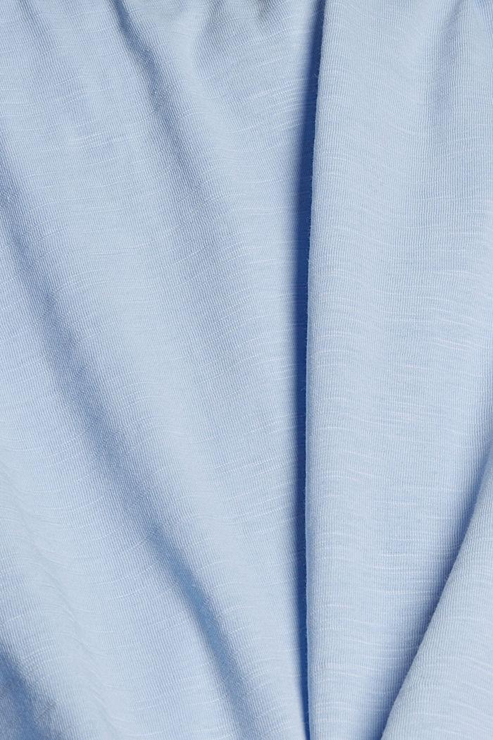 T-Shirt aus 100% Organic Cotton, LIGHT BLUE, detail image number 4