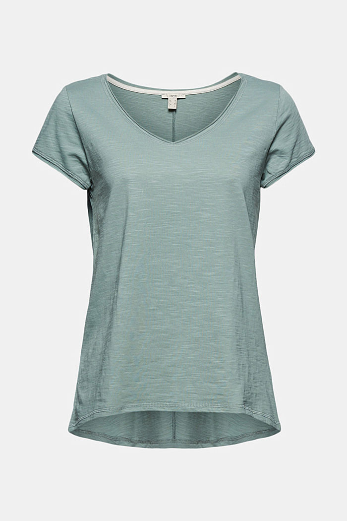 V-Neck-Shirt aus 100% Organic Cotton