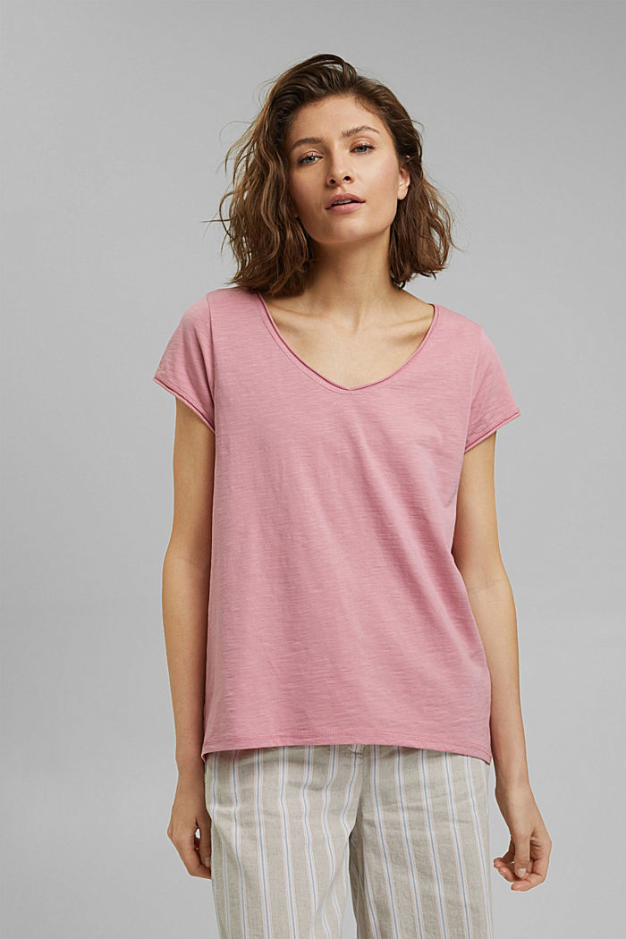 T-shirt 100 % coton biologique, PINK, detail image number 0