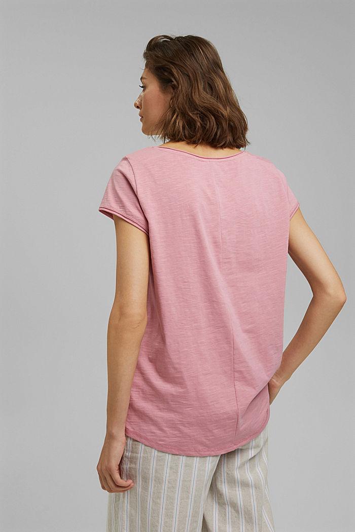 T-shirt 100 % coton biologique, PINK, detail image number 3