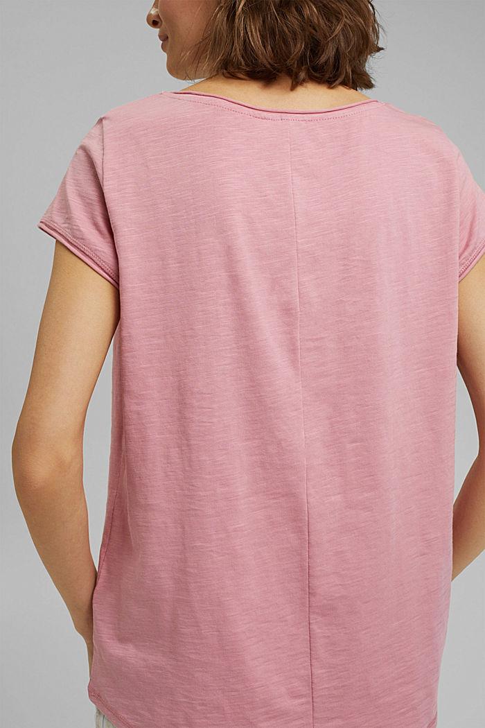 T-shirt 100 % coton biologique, PINK, detail image number 2