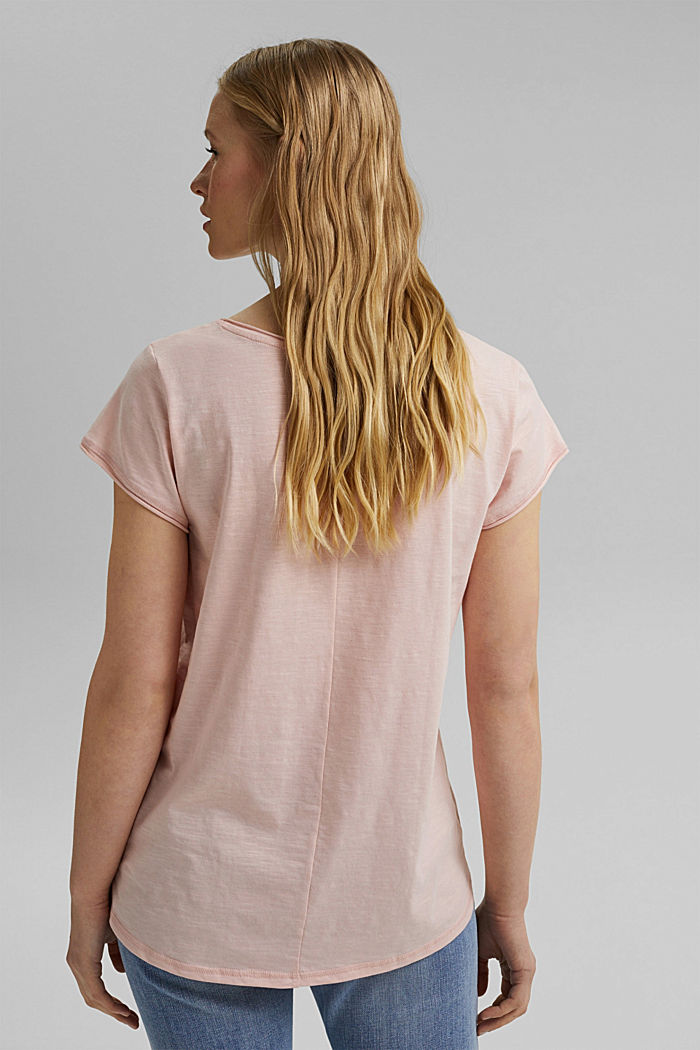 V-neck T-shirt made of 100% organic cotton, NUDE, detail image number 3