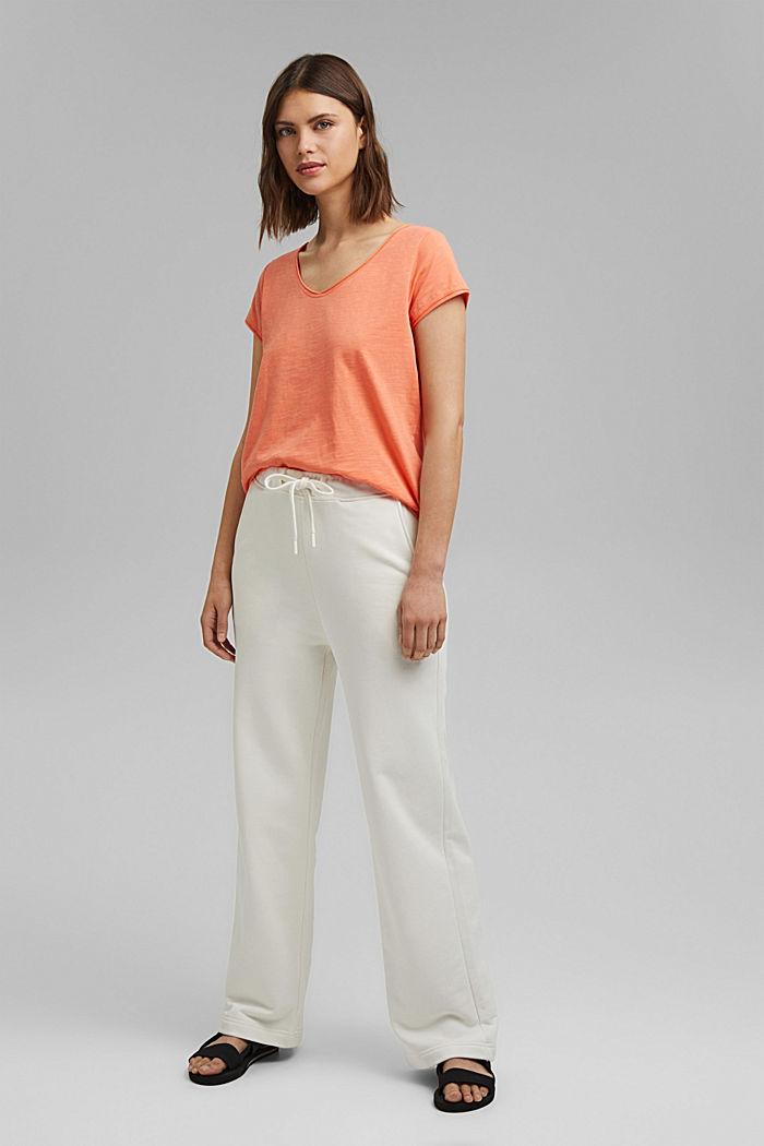T-Shirt aus 100% Organic Cotton, CORAL ORANGE, detail image number 1