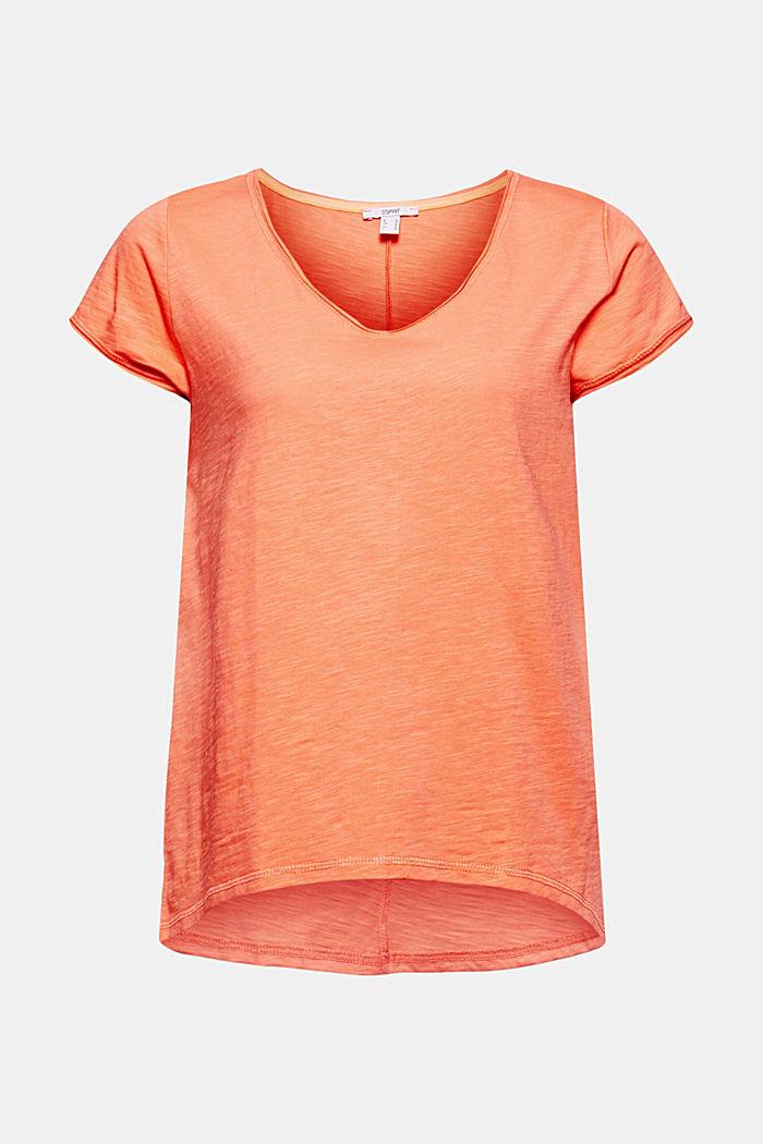 T-Shirt aus 100% Organic Cotton, CORAL ORANGE, detail image number 5