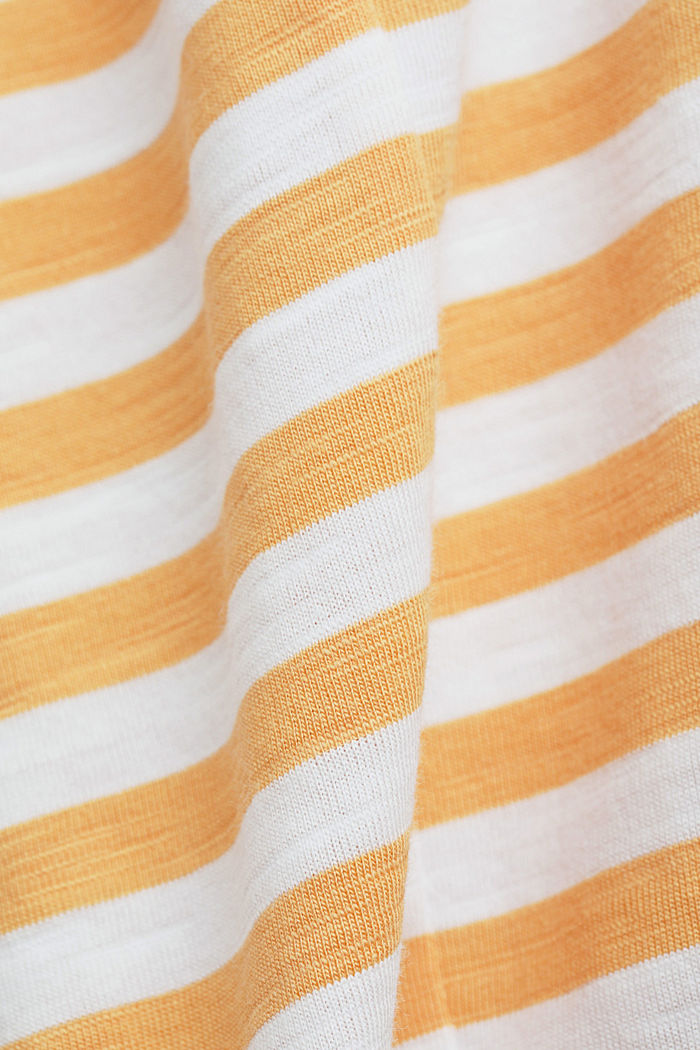 T-Shirt mit Streifen, 100% Organic Cotton, YELLOW, detail image number 4