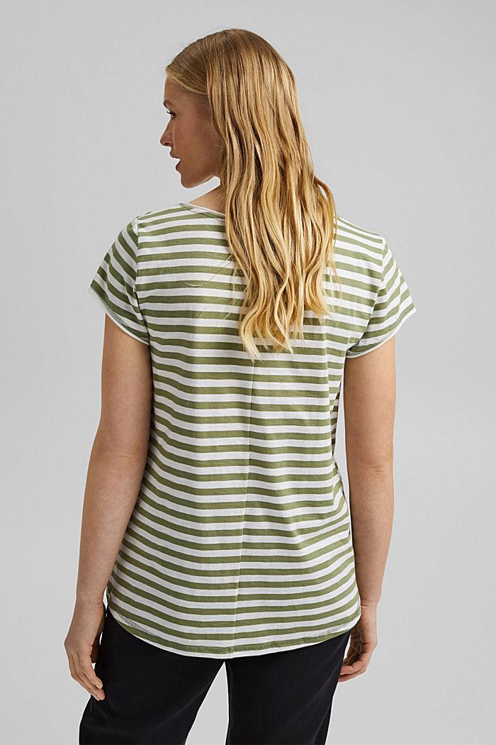 T-Shirt mit Streifen, 100% Organic Cotton, LIGHT KHAKI, detail image number 3