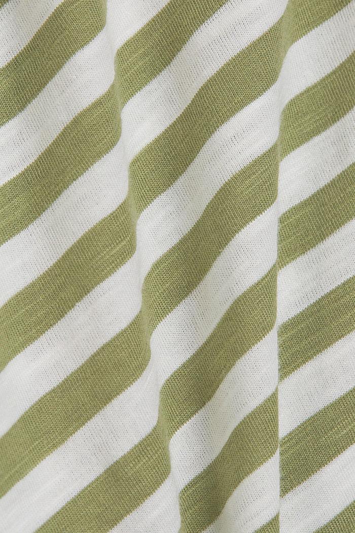 T-Shirt mit Streifen, 100% Organic Cotton, LIGHT KHAKI, detail image number 4