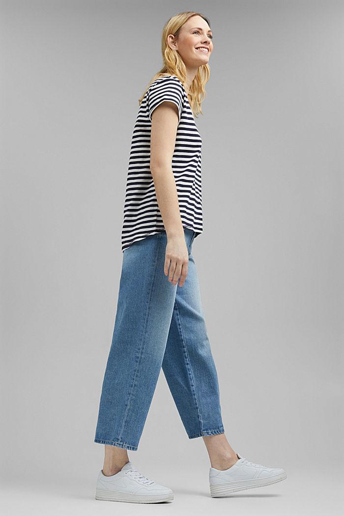 Striped T-shirt, 100% organic cotton, NAVY, detail image number 5