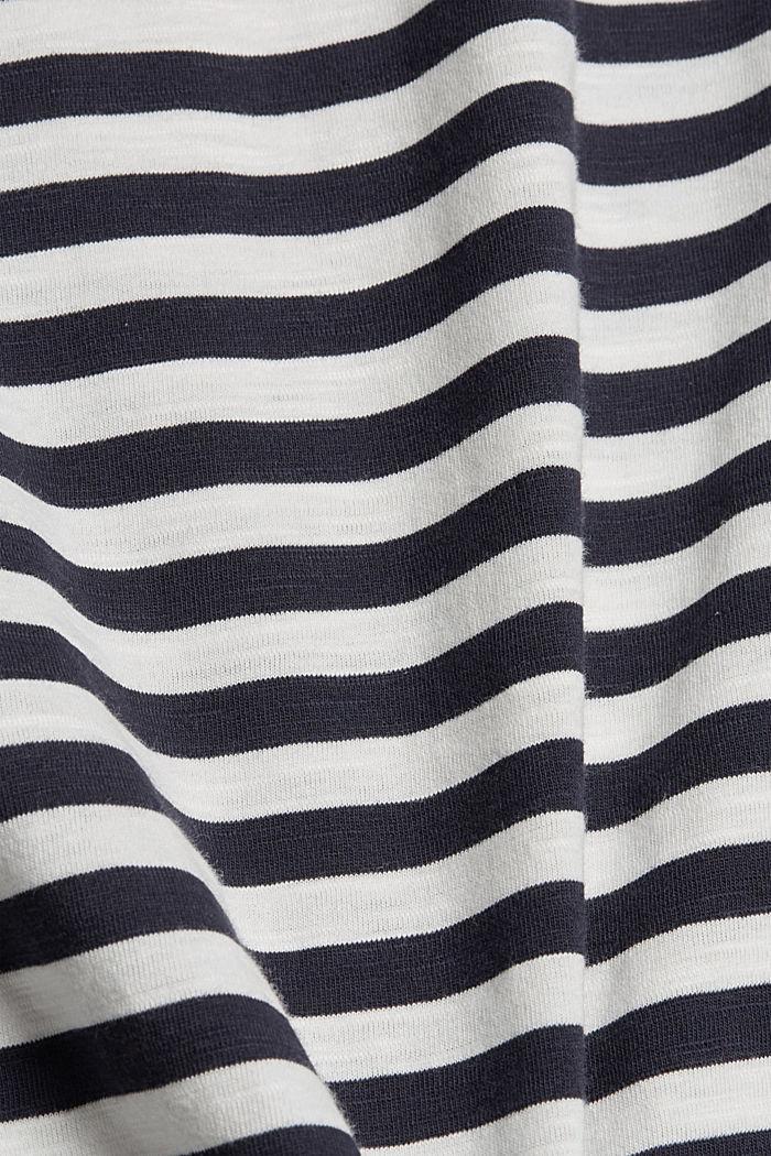 Striped T-shirt, 100% organic cotton, NAVY, detail image number 4