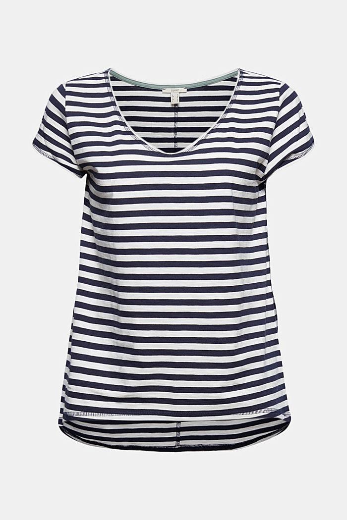 Striped T-shirt, 100% organic cotton, NAVY, detail image number 6