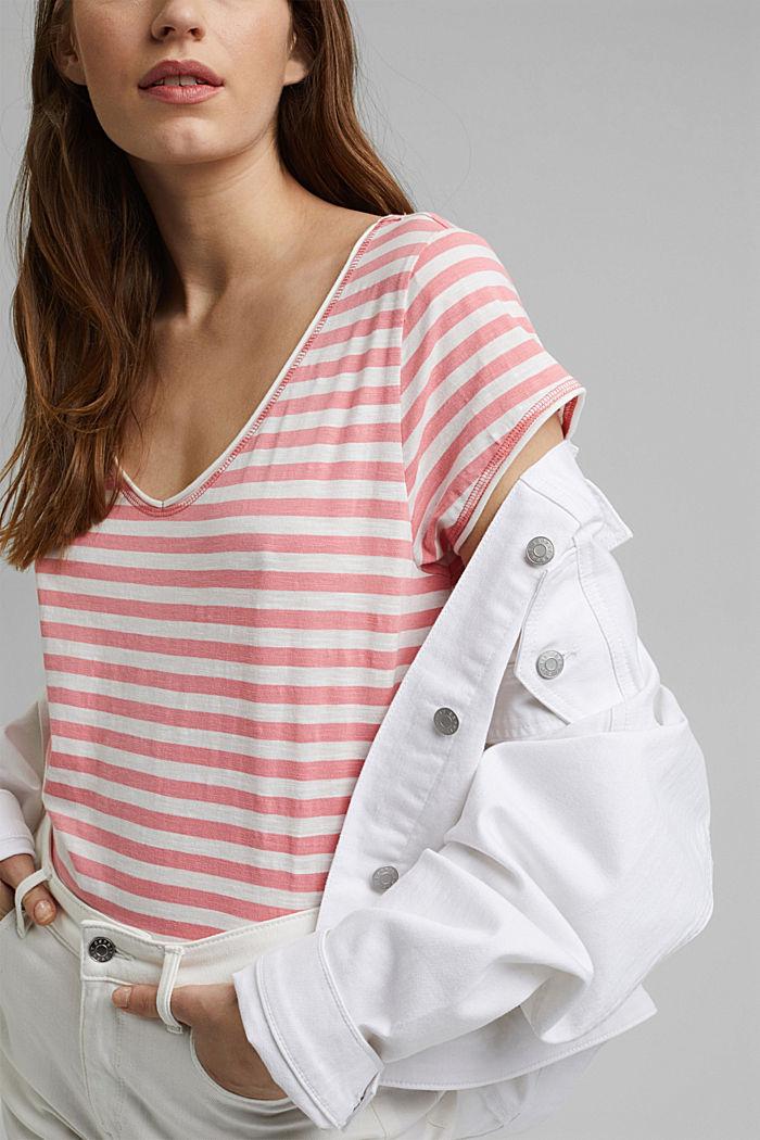 T-Shirt mit Streifen, 100% Organic Cotton