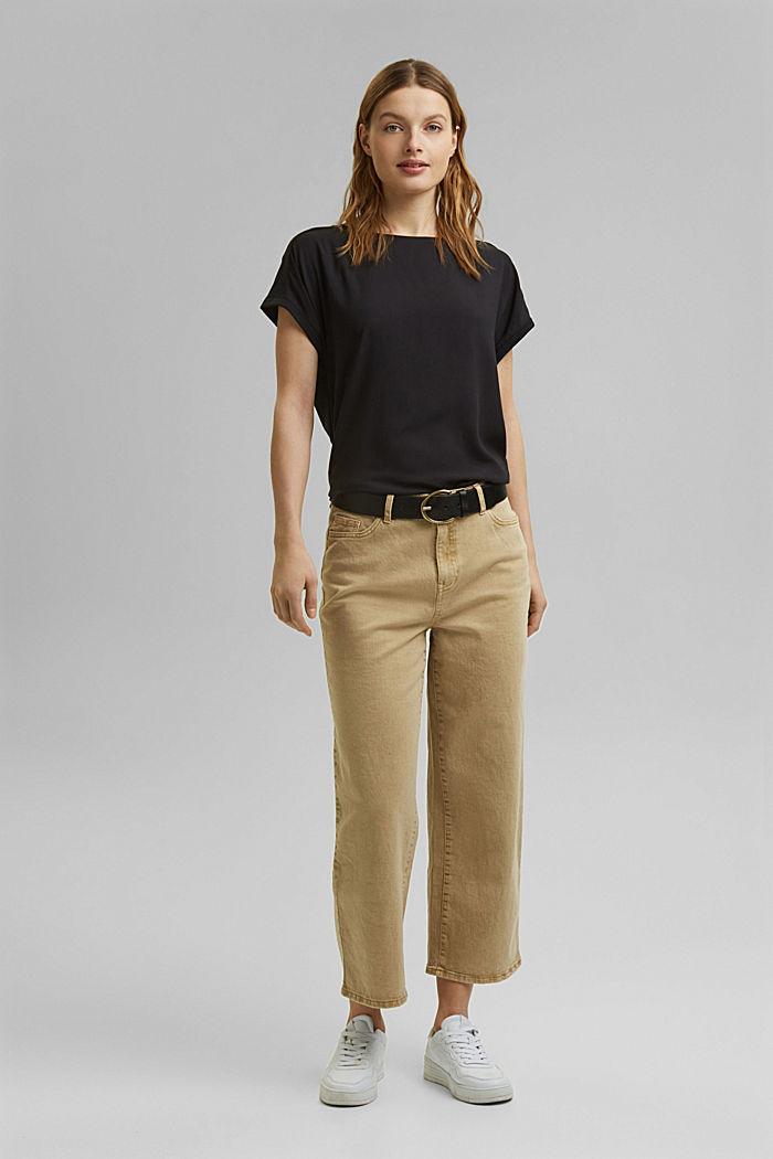 T-shirt z bawełną organiczną/TENCELEM™, BLACK, detail image number 7