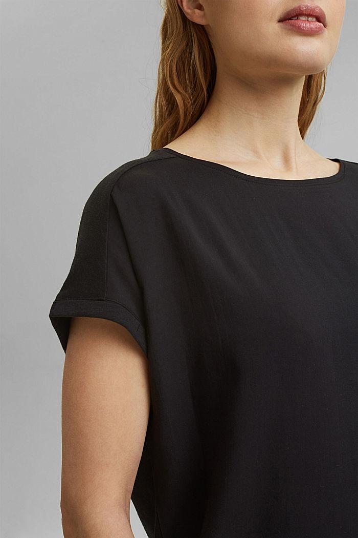 T-shirt z bawełną organiczną/TENCELEM™, BLACK, detail image number 2