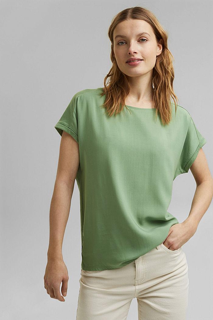 T-Shirt mit Organic Cotton/TENCEL™, LEAF GREEN, detail image number 0