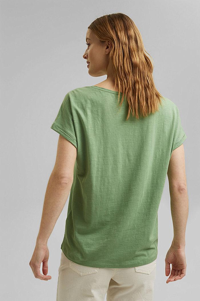 T-Shirt mit Organic Cotton/TENCEL™, LEAF GREEN, detail image number 3