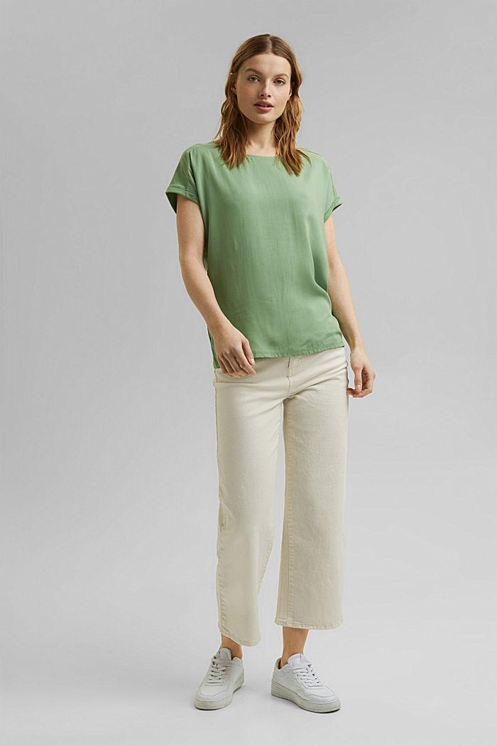 T-Shirt mit Organic Cotton/TENCEL™, LEAF GREEN, detail image number 6