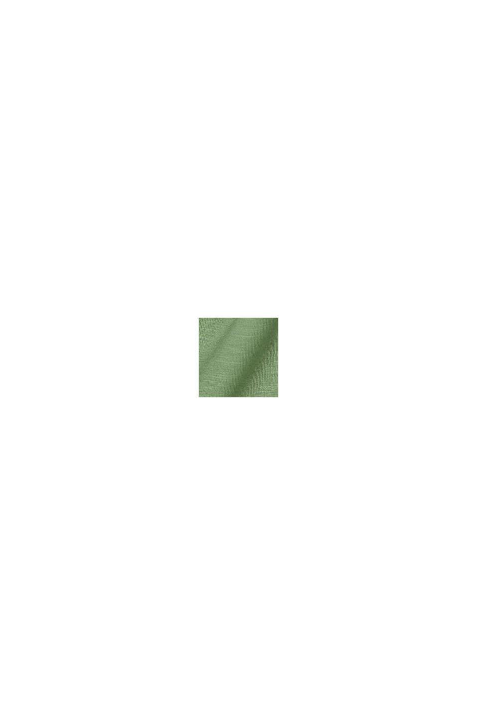 T-Shirt mit Organic Cotton/TENCEL™, LEAF GREEN, swatch