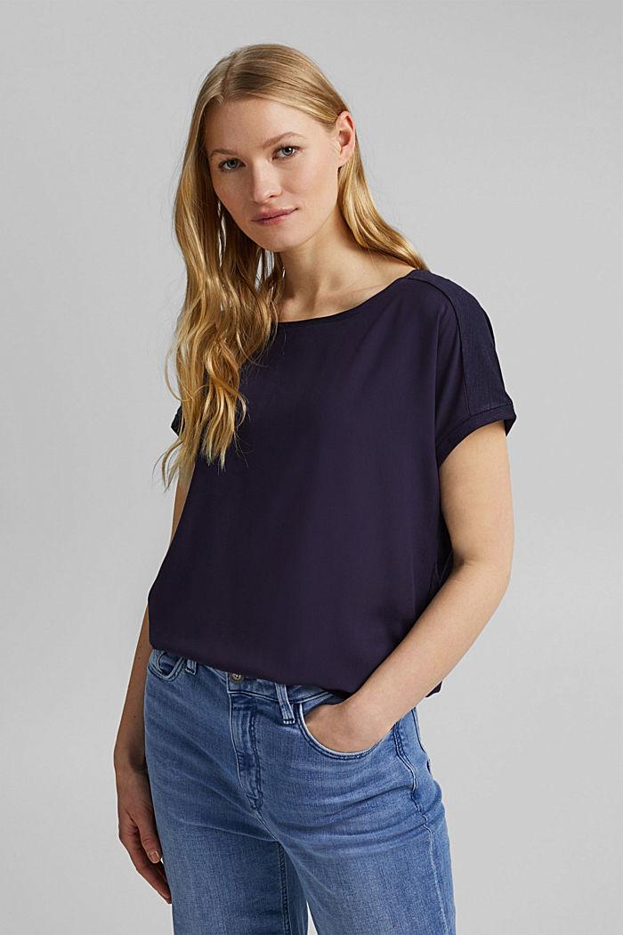 T-shirt containing organic cotton/TENCEL™, NAVY, detail image number 0