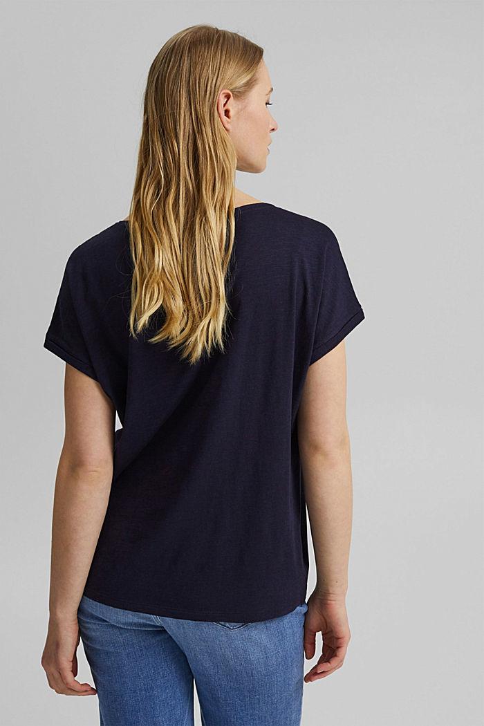 T-shirt containing organic cotton/TENCEL™, NAVY, detail image number 3
