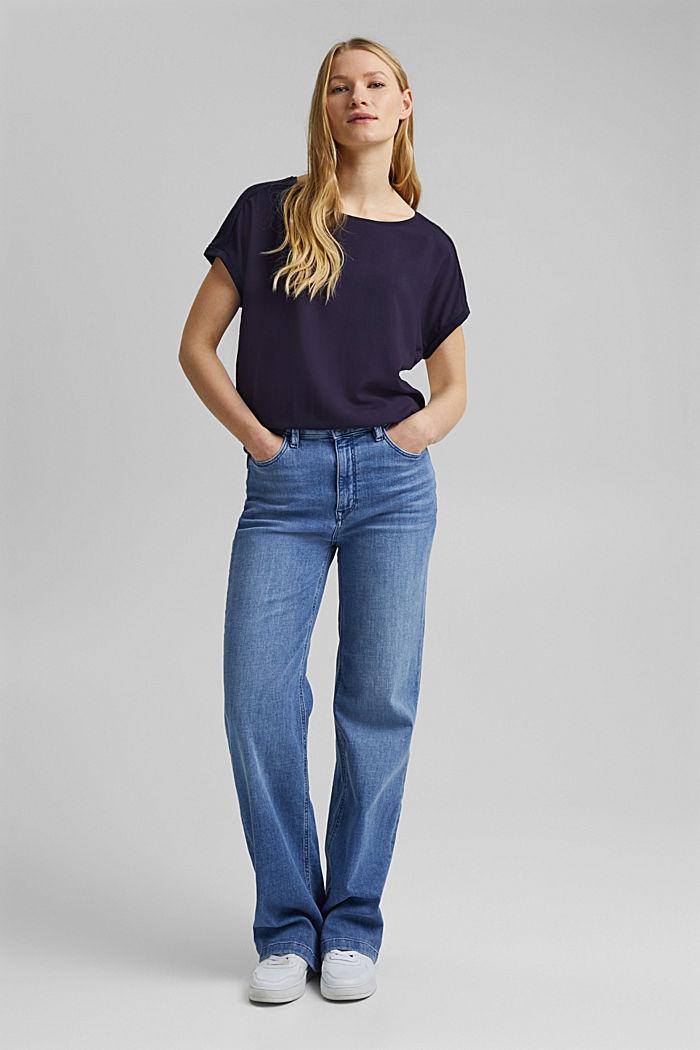 T-shirt containing organic cotton/TENCEL™, NAVY, detail image number 5