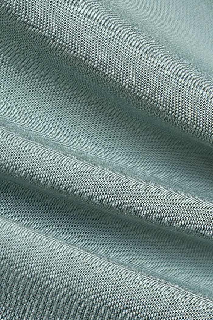T-Shirt mit Organic Cotton/TENCEL™, TURQUOISE, detail image number 4