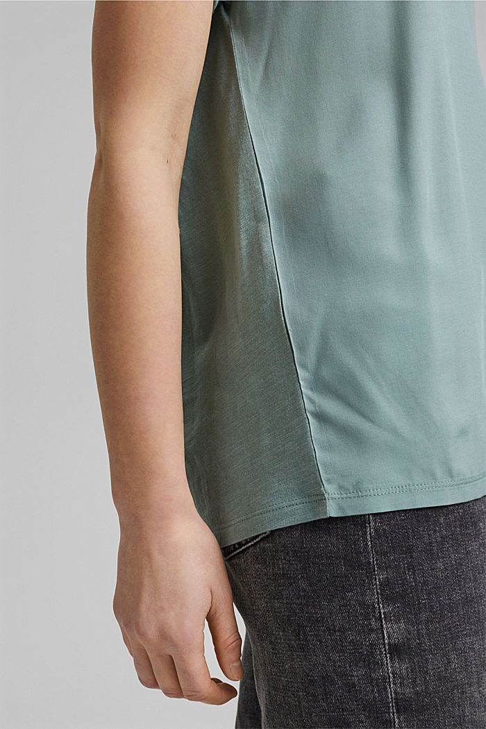 T-Shirt mit Organic Cotton/TENCEL™, TURQUOISE, detail image number 5
