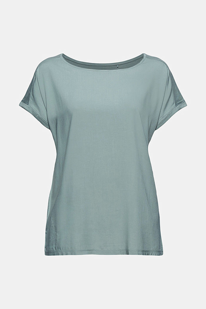 T-Shirt mit Organic Cotton/TENCEL™, TURQUOISE, detail image number 7